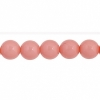 Czech Glass Beads 8In Strand 6mm (30pcs) Vintage Pink